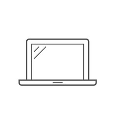laptop line icon vector image vector image