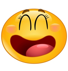 laughing manga emoticon vector image vector image