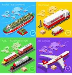Logistic Icon 02 Vehicle Isometric vector image vector image