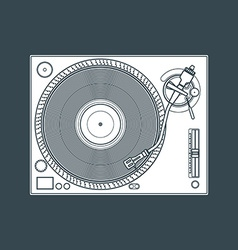 solid color vinyl turntable device vector image vector image