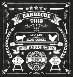 BBQ Chalkboard vector image vector image