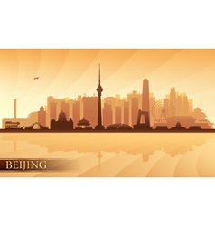 Beijing city skyline vector image