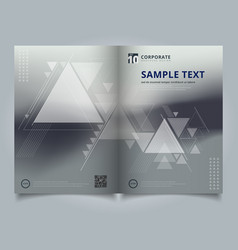 brochure abstract blurred background with vector image vector image
