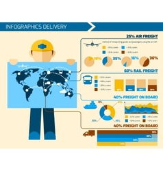 Delivery man infographics vector