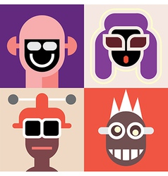 four portraits vector image vector image
