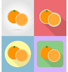 fruits flat icons 05 vector image vector image