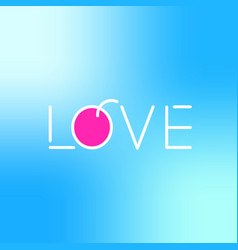 love logo icon lettering contains red fruit flat vector image vector image