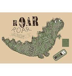 Big muddy feet ROAR vector image vector image