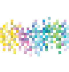 Colorful mosaic pattern design vector image vector image