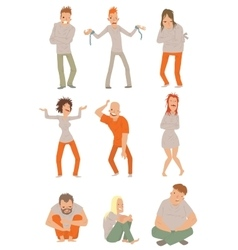 Mad crazy people vector image