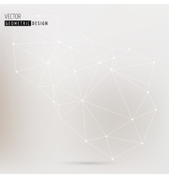 Polygonal Geometric abstract trendy background vector image