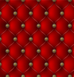 red leather upholstery vector image