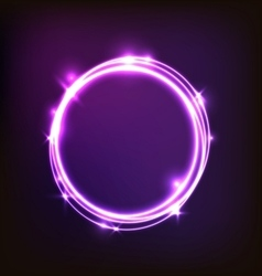 Abstract glowing purple background with circles vector image vector image
