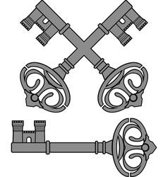 castle key vector image vector image