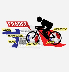 Cycling In France vector image vector image