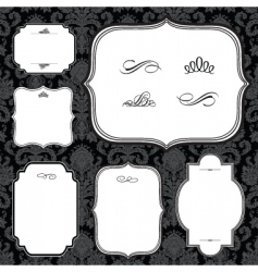 frames and black pattern vector image