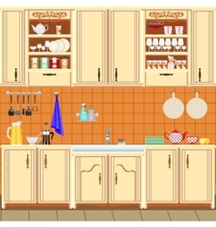kitchen vector image vector image