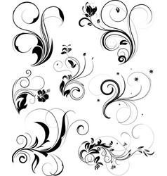set of floral vector image