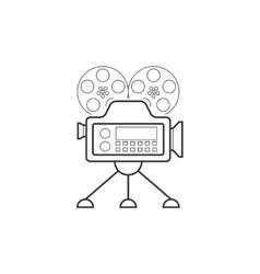 Video camera line icon vector image