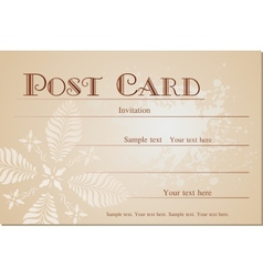 Vintage blank ink postcard vector image vector image