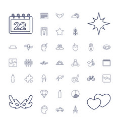37 abstract icons vector