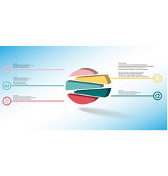 3d infographic template with embossed circle vector