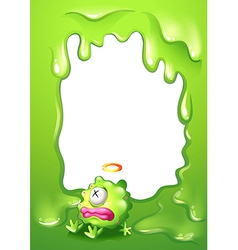A border with a poisoned green monster vector