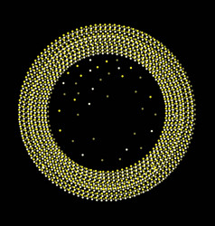 abstract golden confetti circle background vector image