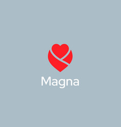 abstract heart flower logo icon design modern vector image