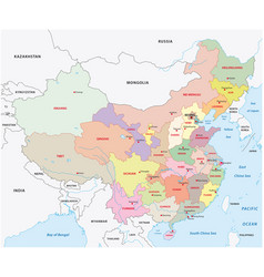 Administrative divisions of china map vector