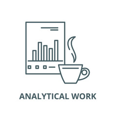 analytical work line icon outline concept vector image