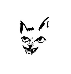 angry dog with grin simple vector image