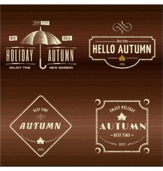 Autumn badges logos and labels for any use vector