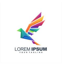 awesome bird gradient logo design vector image