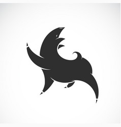 black pig design on white background farm animal vector image
