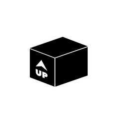 box with arrow up inward incoming loading flat vector image