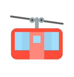 cable car icon amusement park related flat style vector image