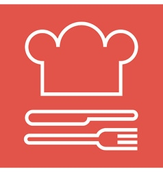 Chef hat fork and knife vector
