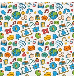 Color Sticker mobile apps pattern vector image