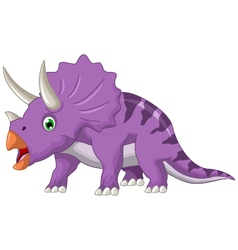 Dinosaur Triceratops cartoon vector image