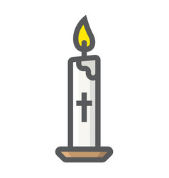 Easter candle filled outline icon easter holiday vector