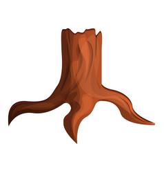Eco tree stump icon cartoon style vector