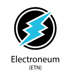 electroneum cryptocurrency symbol vector image