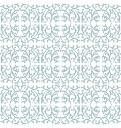 Elegant lace pattern with grey shapes on white vector image