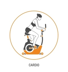 Exercise Bike and Fitness Concept vector image