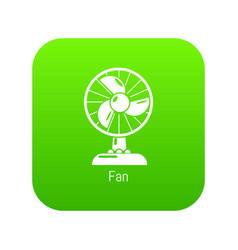 fan icon green vector image