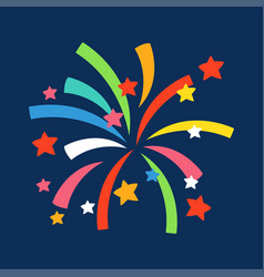 Firework shapes colorful festive icon vector