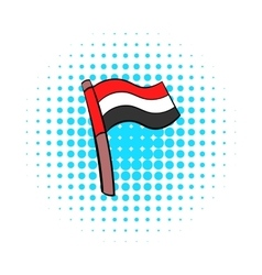 Flag of Egypt icon in comics style vector