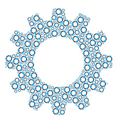 Gear composition cooperation icons vector