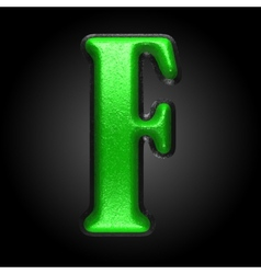 Green plastic figure f vector